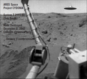 This is the fake pic that was placed on Ares' Cydonia to discredit the mission.